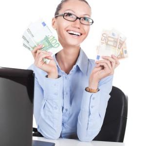 money happiness woman business euro