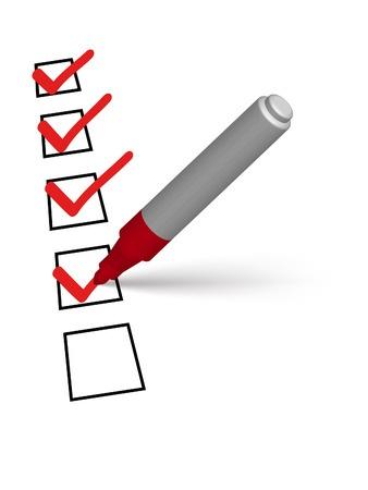 checklist pen list