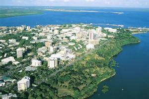 Aerial Darwin city