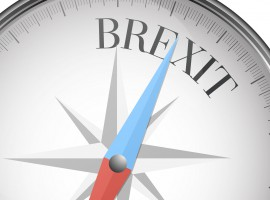 41835896 - detailed illustration of a compass with brexit text, eps10 vector