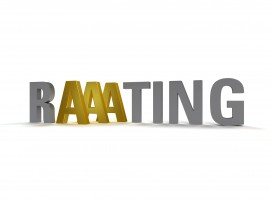 14774351 - metaphorical image concerning credit rating aaa