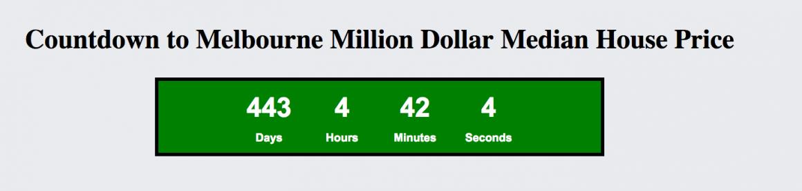 Melbourne million dollar median