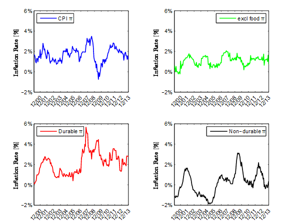Time Series of CPI Inflation Rate