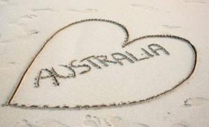 love australia sand