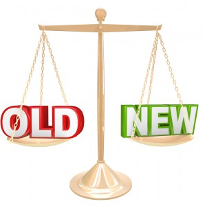 Buy something old or new