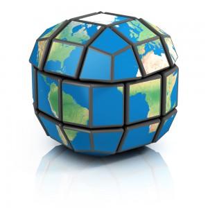 world globe rubiks