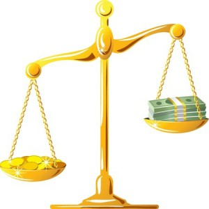 scale money gold coins balance