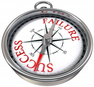 10906219 - success versus failure words on compass, business conceptual image