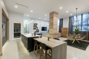 the-block-2016-karlie-and-will-living-room-with-breakfast-bar
