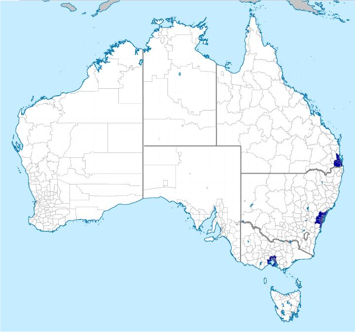 Half Australia live here
